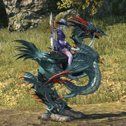 My dyed chocobo with Tidal Barding.