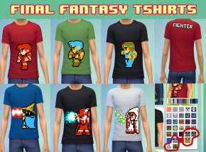 Want some Final fantasy shirts? Click the picture above!