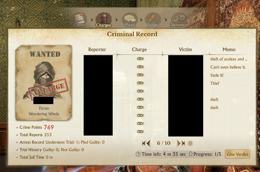 My first case - this guy got 183 mins in jail for all of this!