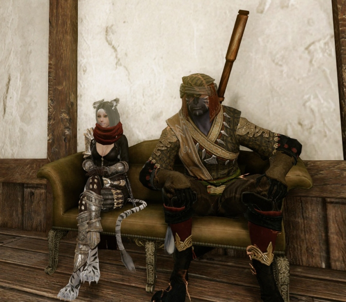 Lucek and I hanging at the house. Hanging = AFK XD