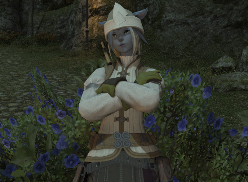 Waiting for rain in Gridania.