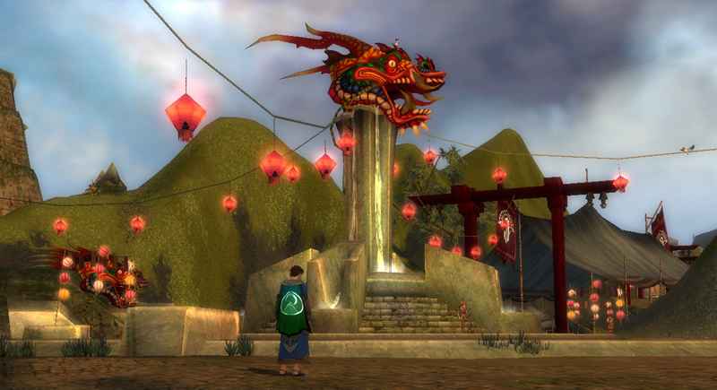 The Dragon Festival of GW1, in Lion's Arch. Which has not been leveled to nothing twice over yet.