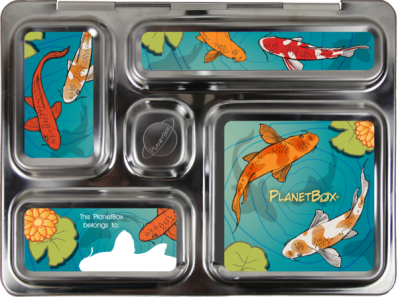 A PlanetBox with Koi magnets