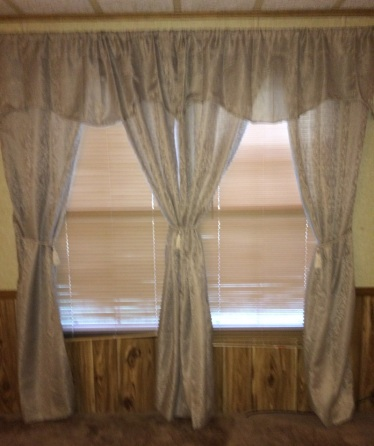 Those curtains are the first to go.