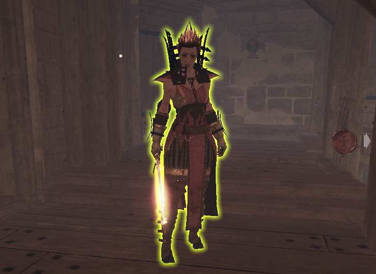 Look at that bum with her new flame sword!