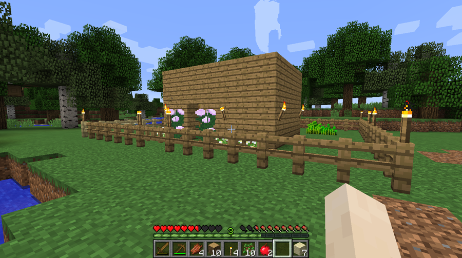 That little Minecraft shack everyone builds their very first time.